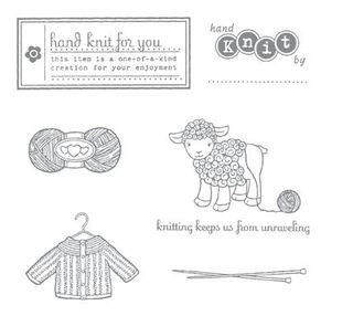 Hand knit stamp set