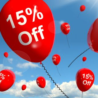 15% off balloon