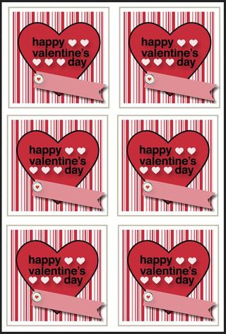 Picture of printable valentine sheet