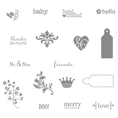 Tiny tags stamp set