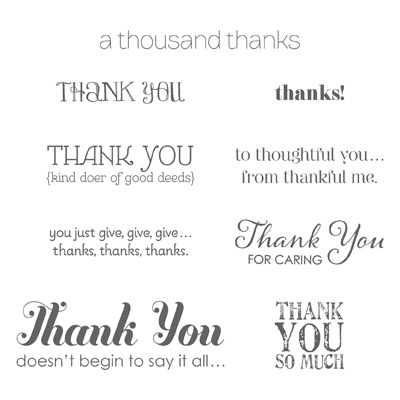 Lots of thanks stamp set