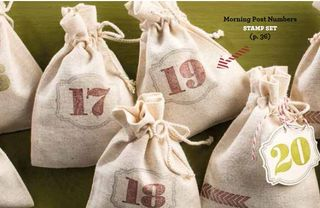 Muslin bags stamped