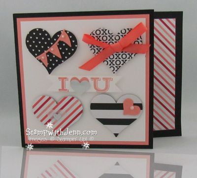 Stacked with love designer paper heart punch