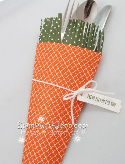 Carrot top utensil holder