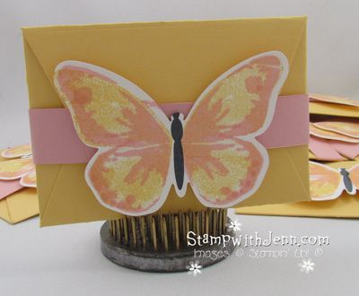 Butterfly gift card holder