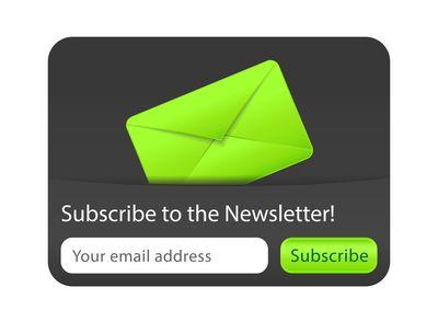 Newsletter_form_green_envelope