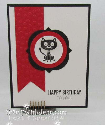 You little furball cat card