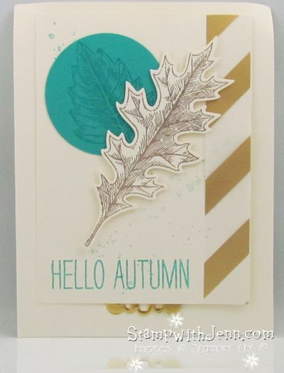Fall card with vintage leaves